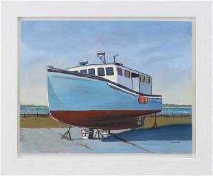 """GEORGE MACHON (Cape Cod, Contemporary), """"Novi Lobster"""