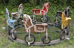 BUSTER BROWN ADVERTISING MERRY-GO-ROUND Santa Ana,