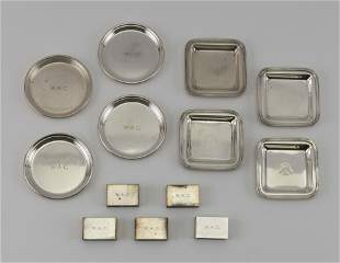 THIRTEEN STERLING SILVER SMOKING ITEMS Approx. 21.9