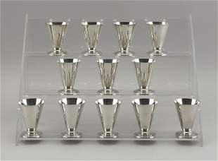 TWELVE REED & BARTON STERLING SILVER CORDIALS Approx.