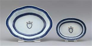 TWO PIECES OF THOMAS JEFFERSON ARMORIAL CHINESE EXPORT
