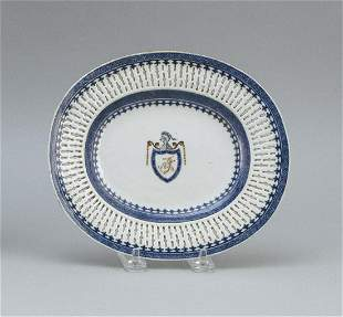 THOMAS JEFFERSON ARMORIAL CHINESE EXPORT PORCELAIN DISH