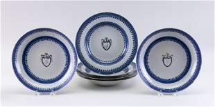 SIX PIECES OF THOMAS JEFFERSON ARMORIAL CHINESE EXPORT