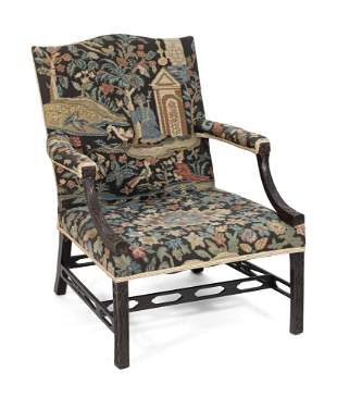 CHINESE CHIPPENDALE ARMCHAIR Late 18th Century Back