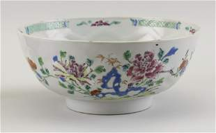 """CHINESE EXPORT PORCELAIN BOWL 19th Century Height 4""""."""