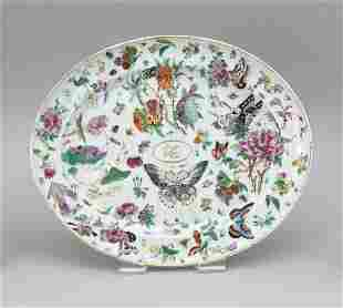 CHINESE EXPORT PORCELAIN OVAL PLATTER First Quarter of