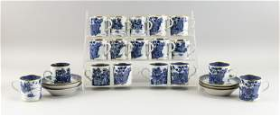 TWENTY-FOUR PIECES OF CHINESE EXPORT BLUE AND WHITE
