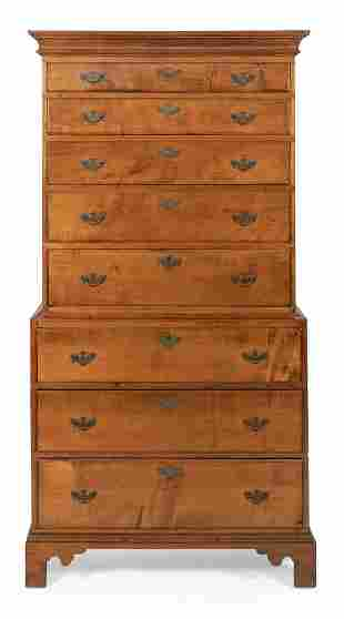 CHIPPENDALE CHEST-ON-CHEST Connecticut, Circa 1780