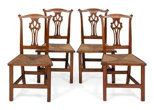 SET OF COUNTRY CHIPPENDALE SIDE CHAIRS Connecticut,