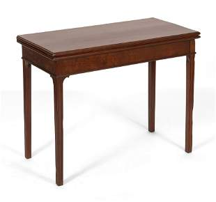 CHIPPENDALE CARD TABLE New England, Circa 1780 Height
