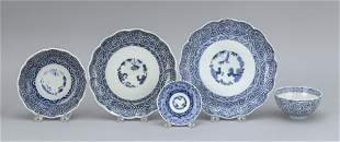 FORTY-FIVE PIECES OF JAPANESE BLUE AND WHITE PORCELAIN