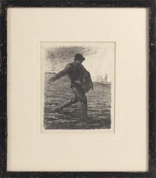 """JEAN FRANCOIS MILLET (France, 1814-1875), """"The Sower"""","""