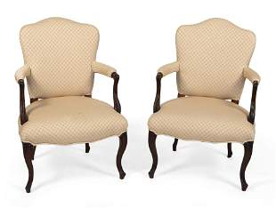 PAIR OF FRENCH PROVINCIAL ARMCHAIRS Early 19th Century