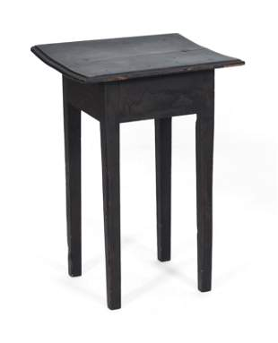 """PAINTED TABLE New England, 19th Century Height 27.25""""."""