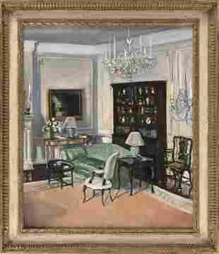 LAURENCE TOMPKINS (New York, 1897-1972), Interior