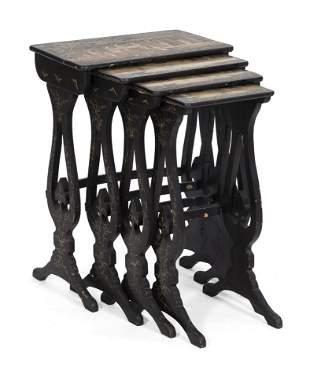NESTING SET OF FOUR CHINESE TABLES Second Half of the