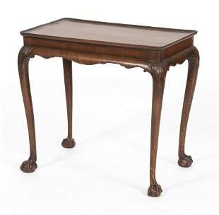 """GEORGIAN TEA TABLE 18th Century Height 28"""". Length"""