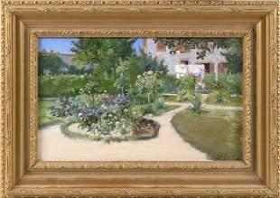 EUGENE HENRI CAUCHOIS (France, 1850-1911), House and