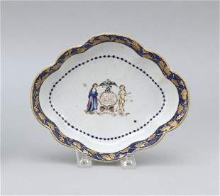 CHINESE EXPORT PORCELAIN DISH WITH ARMS OF NEW YORK