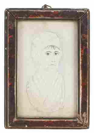 AMERICAN SCHOOL (19th Century,), Portrait of a woman.,
