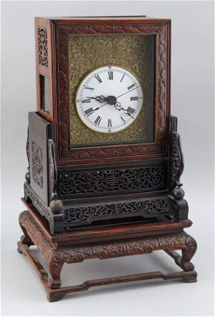 CHINESE EXPORT MANTEL CLOCK Mid-19th Century Height