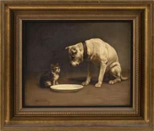 JOHN HENRY DOLPH (New York/Ohio, 1835-1903), A dog and