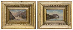 HUDSON RIVER SCHOOL (19th Century,), Two landscapes.,