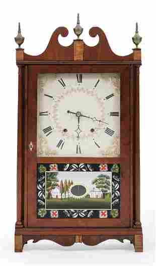 ELI TERRY PILLAR AND SCROLL SHELF CLOCK 19th Century,