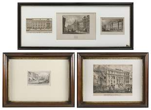 ARCHITECTURAL PRINTS OF HISTORIC NEW YORK AND LONDON