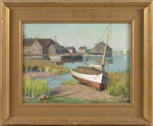 "CARL HIRSCHBERG (Connecticut, 1854-1923), ""New England"