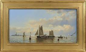 "WILLIAM R. DAVIS (Massachusetts, b. 1952), ""Fisherman"