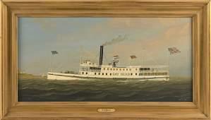 WILLIAM R. DAVIS (Massachusetts, b. 1952), The steamer