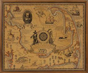 """COULTON WAUGH PICTORIAL MAP OF CAPE COD Dated 1926 16"""""""