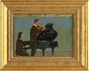 ARTHUR MORRIS COHEN (New York, 1928-2012), Duet., Oil