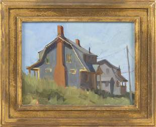 "DIANE SCOTT (Maine, b. 1950), ""Truro Twins""., Oil on"