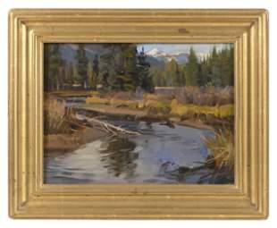 "JAY MOORE (Colorado, b. 1964), ""Kawuneeche Valley"".,"