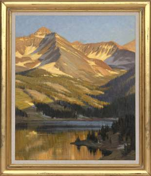"""JAY MOORE (Colorado, b. 1964), """"Trout Lake Bathed in"""