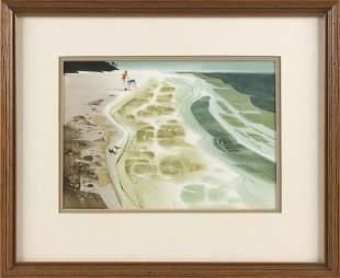 "ROBERT ERIC MOORE (Maine, 1927-2006), ""Shelling,"