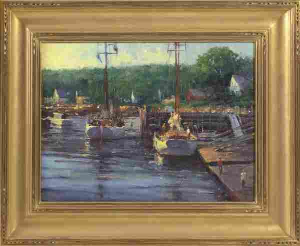 """GEORGE VAN HOOK (New York, b. 1954), """"Rockport"""