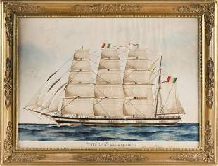 """PORTRAIT OF THE SHIP """"CATERINA"""" BY PUJOL"""