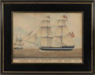 """PORTRAIT OF THE SHIP """"CHARLES LAW' OF LONDON"""