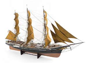 """RIGGED MODEL OF THE CLIPPER SHIP """"UNION"""" OF"""