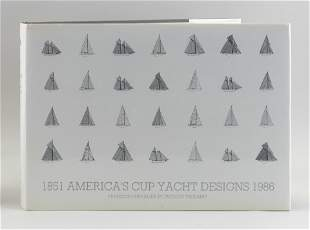 """RARE YACHTING VOLUME """"AMERICA'S CUP YACHT DESIGNS"""