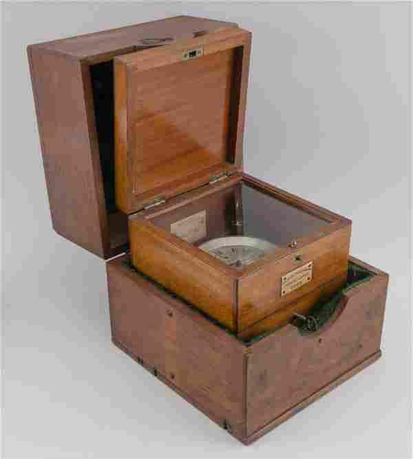 BOXED AND CASED MARINE CHRONOMETER