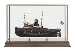 "CASED MODEL OF THE TUGBOAT ""EDMOND J. MORAN"""