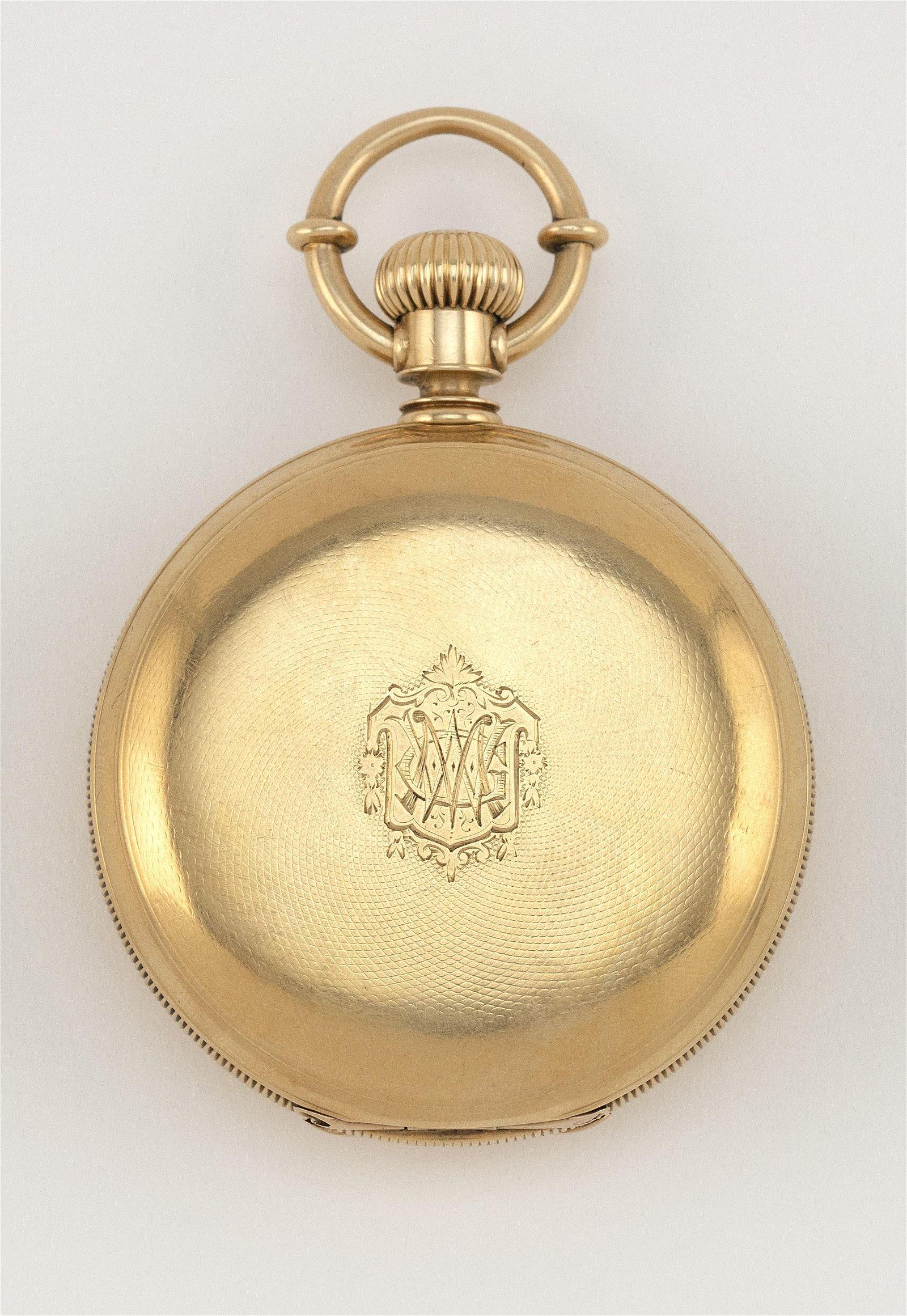 AMERICAN WATCH CO. 18KT GOLD CASED POCKET WATCH 1876