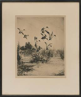 ROLAND H. CLARK (Connecticut, 1874-1957), A flock of