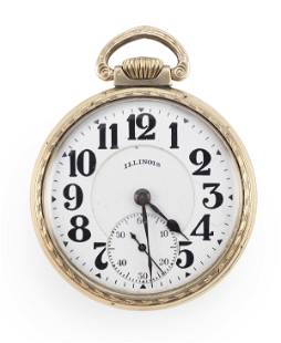 ILLINOIS GOLD-FILLED POCKET WATCH
