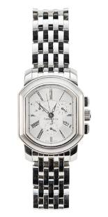 """TIFFANY & CO. """"MARK COUPE"""" STAINLESS STEEL CHRONOGRAPH"""