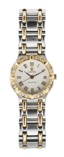 """CONCORD """"SARATOGA"""" STAINLESS STEEL AND DIAMOND WATCH"""